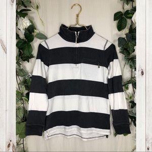 Crewcuts Gray & White Stripe Long Sleeve Top!